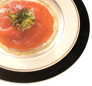 Smoked Salmon with Green Peppercorn Mousse
