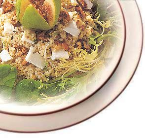 Couscous, Goat Cheese, Fresh Fig and Walnut Salad