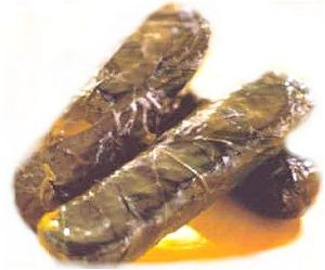 Stuffed Vine Leaves - Dolmathakia me rizi
