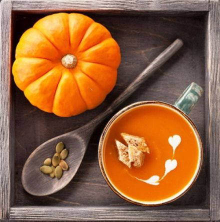 Pumpkin soup with cardamom