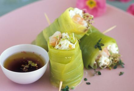 Young Leek Spring Rolls