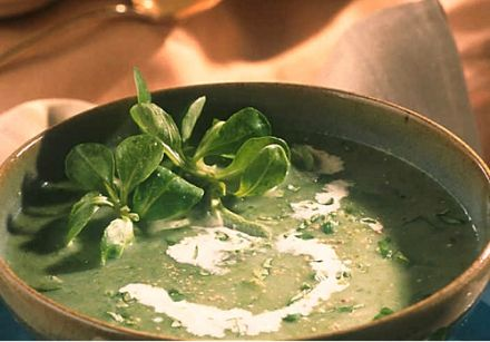 Stress-Fighting Cream of Mache (Lamb's Lettuce) Soup