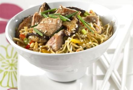 Noodles Sautéed with Veal