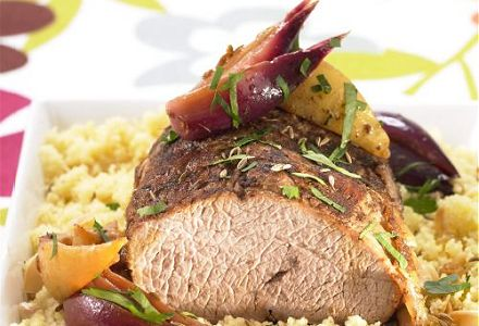 Spiced Veal Roast with Couscous