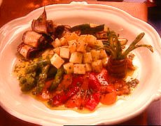 Grilled Vegetable Antipasto with Marinated Provolone