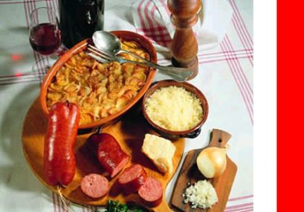 Gratin Vaudois with Sausage