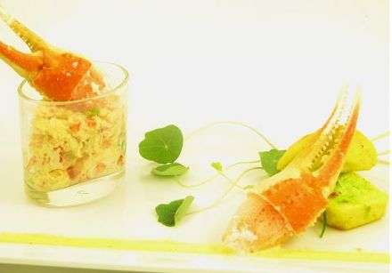 Crab Salad with Curry and Parmesan Loaf 1