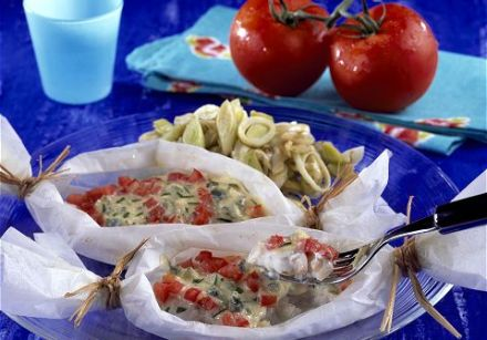 Hake en Papillote with Blue Cheese 1